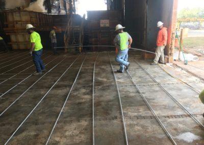 Valmont Tampa Galvanizing New Warehouse Floor